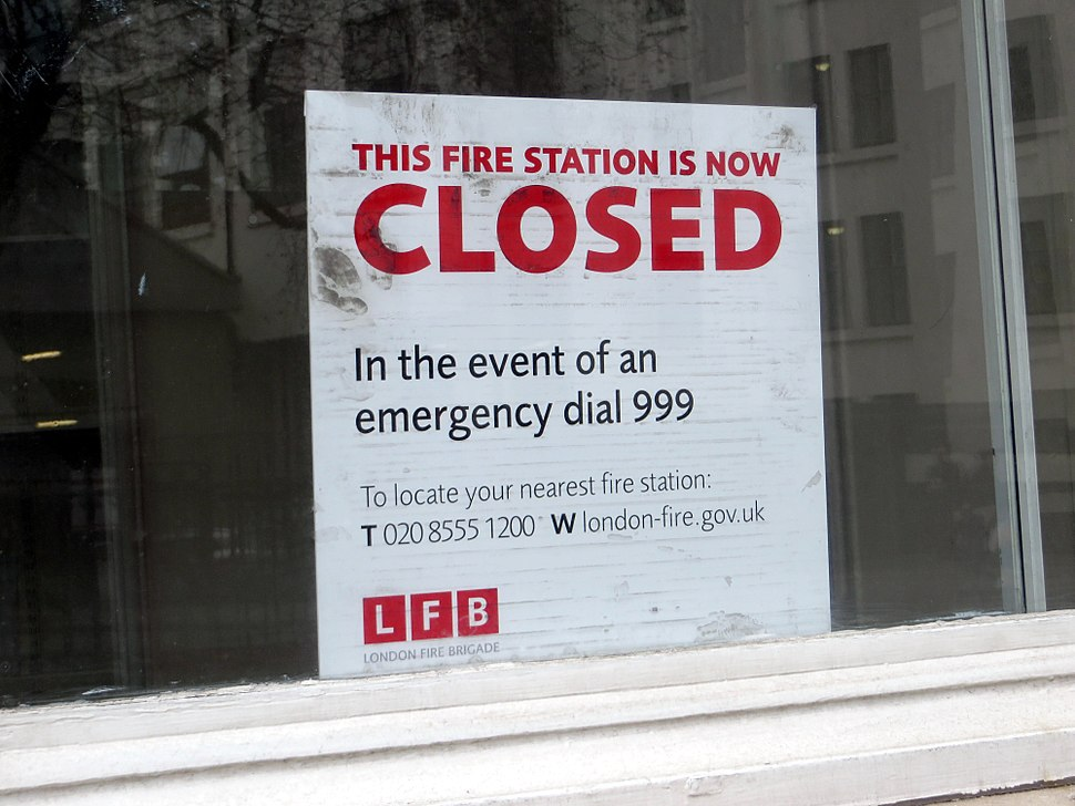 This fire station is now closed - Clerkenwell