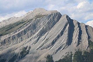 Mount Indefatigable Mountain in Alberta, Canada