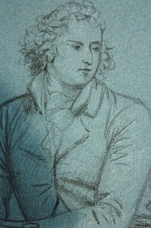 Thomas Muir of Huntershill - Thomas Muir of Hunters Hill by David Martin, 1790, chalk drawing from life, National Portrait Gallery of Scotland