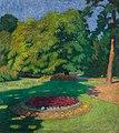 Tibor Boromisza - Town Garden in Baia Mare 110x98 oil on canvas 1906.jpg