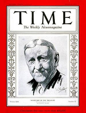 William H. Woodin - Secretary of the Treasury William H. Woodin, (1933 ''Time'')