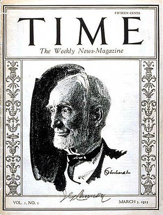 Media of the United States - The first issue of Time (March 3, 1923), featuring Speaker Joseph G. Cannon.