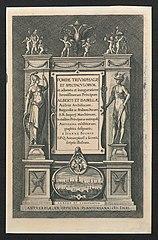 Titelplaat voor de Blijde Intrede van Albrecht en Isabella te Antwerpen in 1599