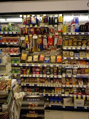 Tobacco-Free Pharmacies - Image: Tobacco display in Walgreens, Hollywood, FL
