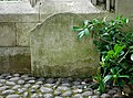 Tombstone on the North Face of the Church of St Dunstan in the East, City of London (02).jpg