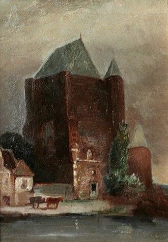 Cornelis Kruseman - Image: Toren bij water