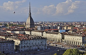 Turin - Turin with the Mole Antonelliana visible
