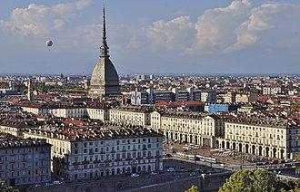 Turin - Turin with the Mole Antonelliana visible