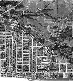 O'Connor–Parkview - Aerial view of the area, 1942