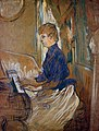 Toulouse-Lautrec - At the Piano-Madame Juliette Pascal in the Salon of the Chateau de Malrome, 1896.jpg