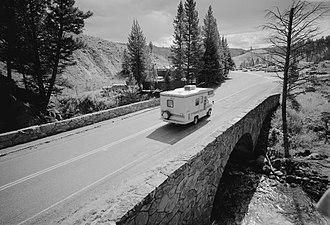 Grand Loop Road Historic District - Image: Tower Creek Bridge Yellowstone