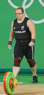 Tracey Lambrechs New Zealand weightlifter
