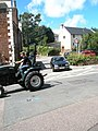 Tractor passing Chapel House at Dunster - geograph.org.uk - 925253.jpg