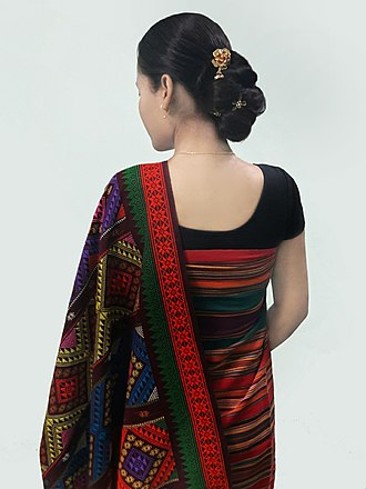 Shawl - Traditional Hajong Argon shawl.