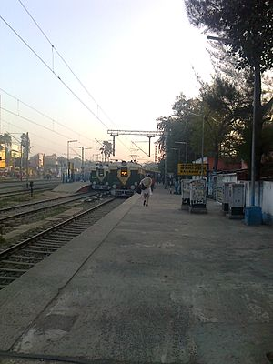 Barasat Junction railway station - Image: Train In Barasat Junction