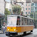 Tram in Sofia mear Macedonia place 2012 PD 001.jpg