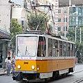 Tram in Sofia mear Macedonia place 2012 PD 001.jpg
