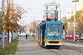 Tram in Sofia near Russian monument 005.jpg