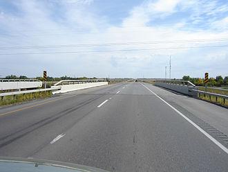 Saskatchewan Highway 1 - Divided highway (twinned) section Sk Hwy 1 leaving Regina (eastward)