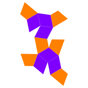 Trapezo-rhombic dodecahedron - Image: Trapezo rhombic dodecahedron flat