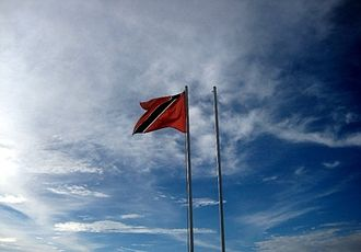 Flag of Trinidad and Tobago - The flag of Trinidad and Tobago flying at the San Fernando Hill, San Fernando in July 2009.