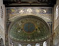 Triumphal arch and apse vault interior - Sant'Apollinare in Classe - Ravenna 2016.jpg