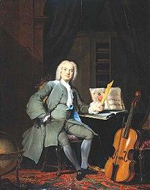 Schilderij van Cornelis Troost, de cellospeler, 1736