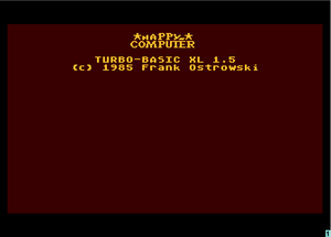 Turbo-BASIC XL 1.5 startup screen.