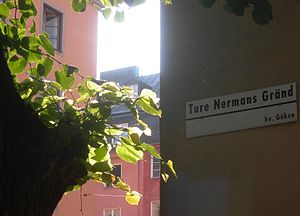 Ture Nerman - Ture Nerman's alley in Stockholm