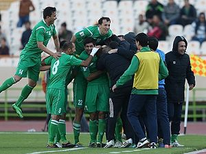 Turkmenistan national football team - Image: Turkmenistan football team 2015