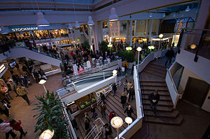 Christmas shopping at Hansa shopping center in...