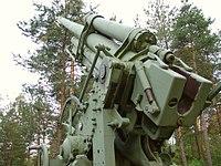 Tuulimäki anti-aircraft memorial - 76 mm air defense gun M1931