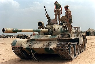 Type 69 tank - Iraqi Type 69-II captured during the Gulf War