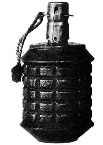 Type 97 grenade - A Japanese Type 97 grenade, with the safety fork still in place.