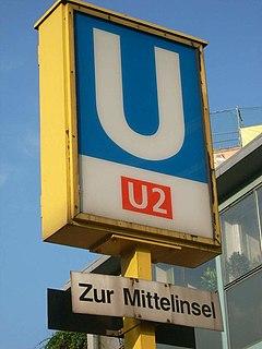 U2 (Berlin U-Bahn) underground line in Berlin