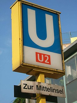 U-Bahn Berlin line U2 sign.jpg