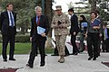 U.S. Ambassador to Afghanistan Ryan Crocker, second from left, and U.S. Marine Corps Gen. John Allen, center, the commander of the International Security Assistance Force and U.S. Forces-Afghanistan, attend 111020-S-PA947-454.jpg