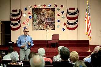Matt Salmon - Matt Salmon speaking at a town hall hosted by the American Academy for Constitutional Education in Mesa, Arizona in 2014