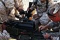 U.S. Marines with Engineer Company, Combat Logistics Regiment 2, 2nd Marine Logistics Group, prepare their crew serve weapons for skills training during Enhanced Mojave Viper (EMV), on Marine Corps Air Ground 120902-M-KS710-003.jpg