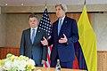 U.S. Secretary of State John Kerry Addresses Reporters After Bilateral Meeting With Colombian President Juan Manuel Santos (26882509561).jpg