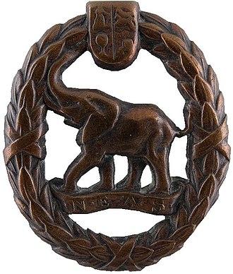 Native Military Corps - Image: UDF era Directorate Non European Army Services badge