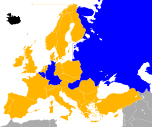 UEFA Euro 1972 qualifying - Image: UEFA Euro 1972 Qualifiers Map