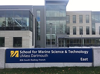 University of Massachusetts Dartmouth - Central entrance at UMass Dartmouth SMAST East campus in New Bedford.