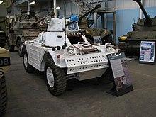 Un'autoblindo dell'ONU. Museo del Carro di Bovington,[4] Dorset, Inghilterra.