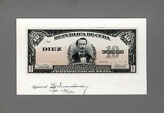 Carlos Manuel de Céspedes - Image: US BEP República de Cuba (progress proof) 10 silver pesos, 1936 (CUB 71b)