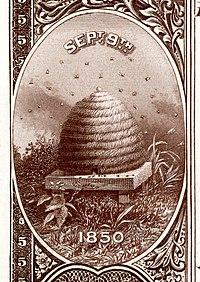 Ulusal Banknot Serisi 1882BB'nin tersinden Utah toprak arması