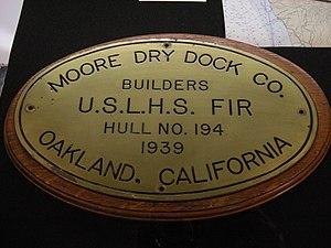 USCGC Fir (WLM-212) - Image: USLHS Fir plaque 01