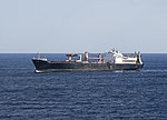 USNS PFC Eugene A. Obregon (T-AK-3006) underway at sea on 24 September 2019 (190924-N-BI924-9780).JPG