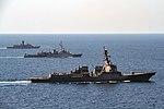 USS Halsey (DDG-97), French frigate Jean de Vienne (D643) and HMAS Warrawunga (FFH 152) underway in the ARabian Gulf on 8 March 2018 (180308-N-AZ808-3232).JPG