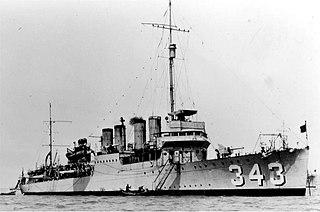 USS <i>Noa</i> (DD-343) US Navy Clemson-class destroyer in service 1921–1944